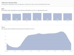 Facebook Insights - When Your Fans Are Online
