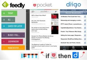 Feedly Pocket Diigo IFTTT judiwindow